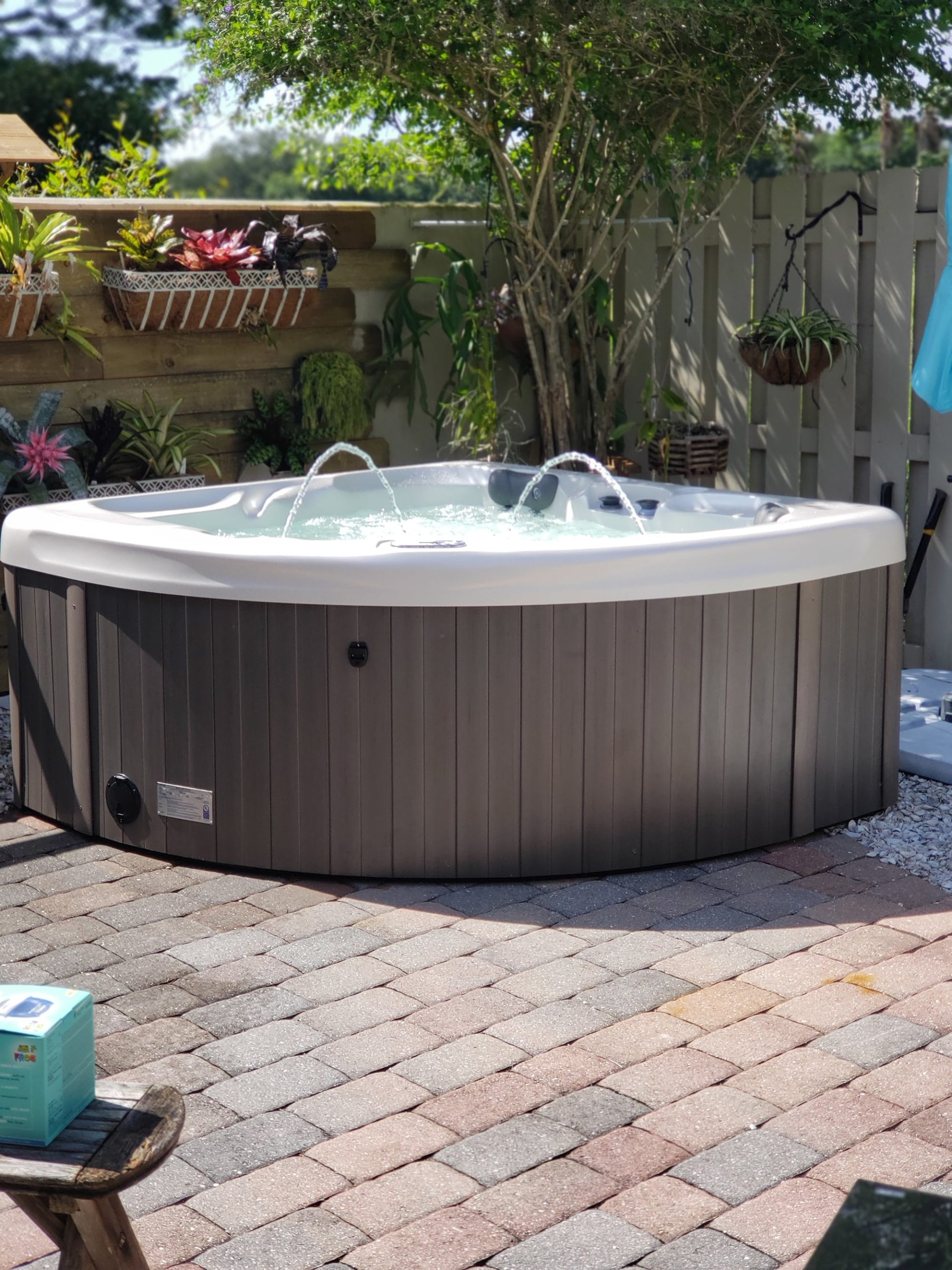 Hot Tub Installation Jets Water in Sarasota