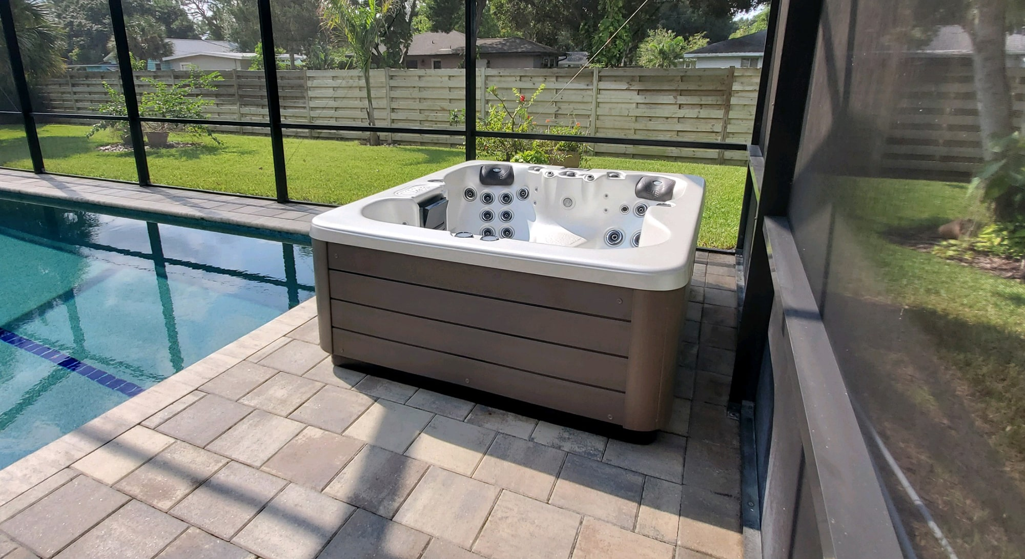 Joli Hot Tub Installation in Sarasota