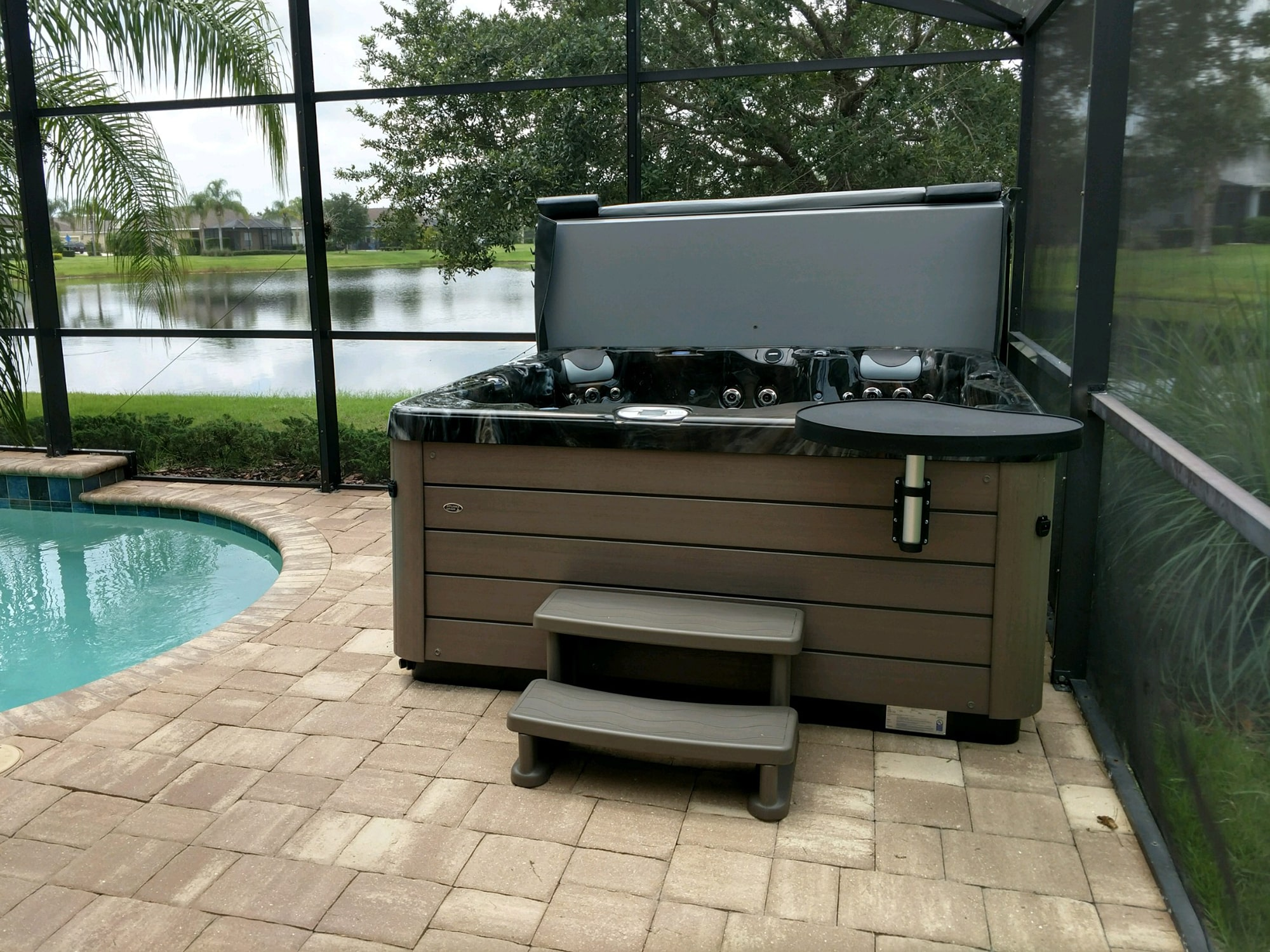 Prestige Hot Tub Install in Sarasota