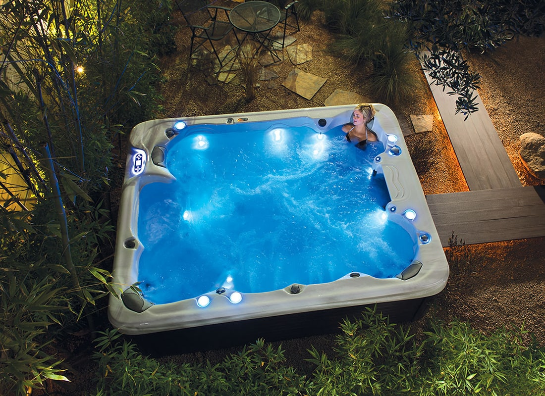Vita Spa Hot Tub Night lights in Sarasota