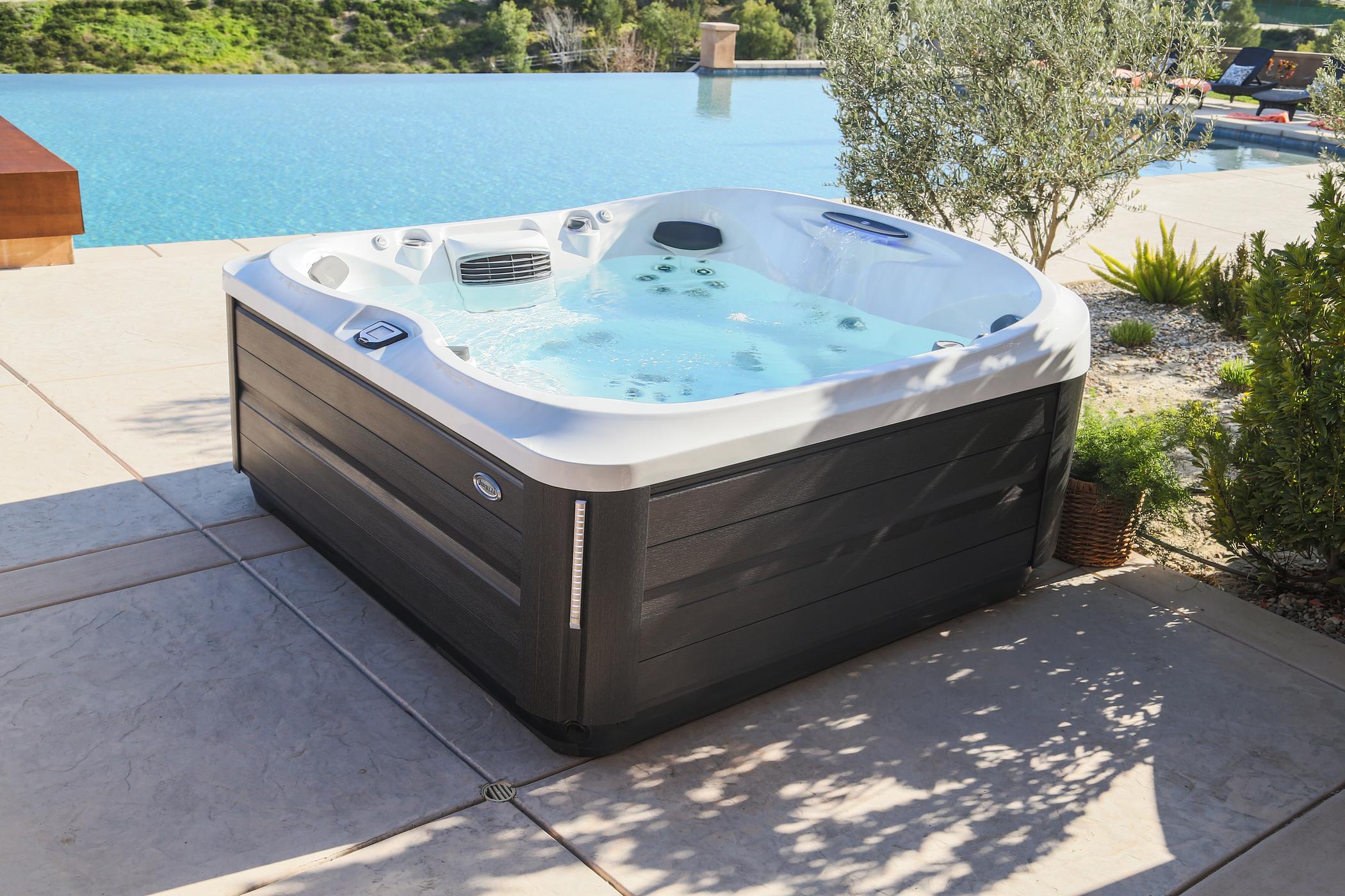 Premium outdoor Jacuzzi Hot Tub installation.