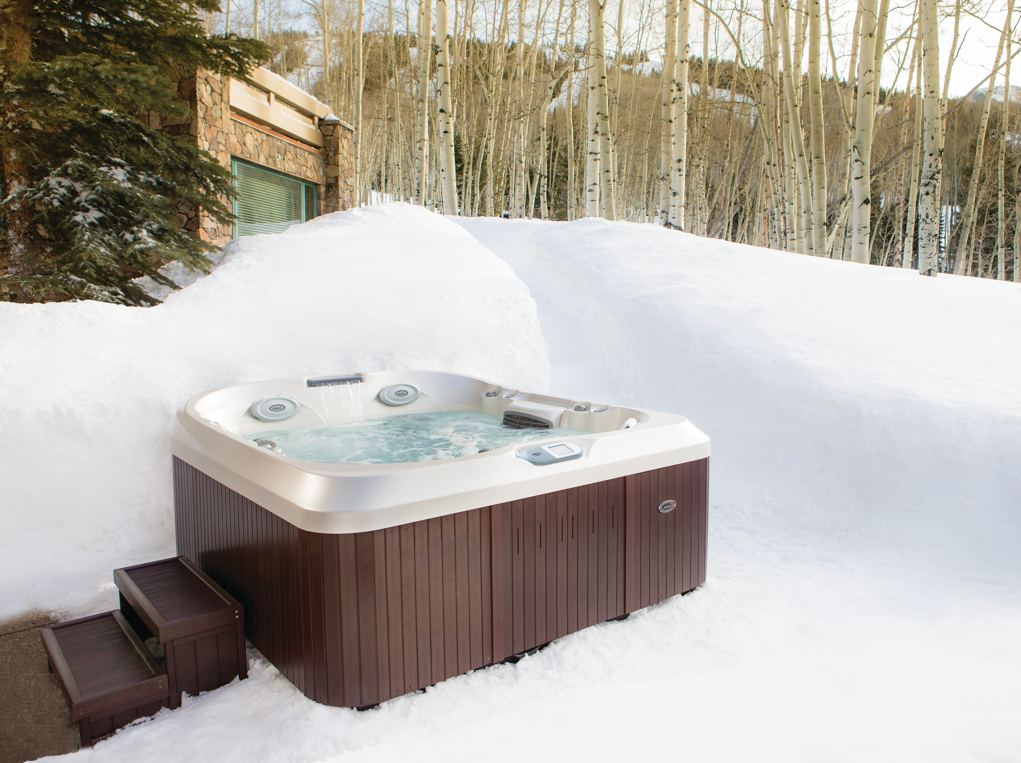 Outdoor Jacuzzi Hot Tub in the snow.